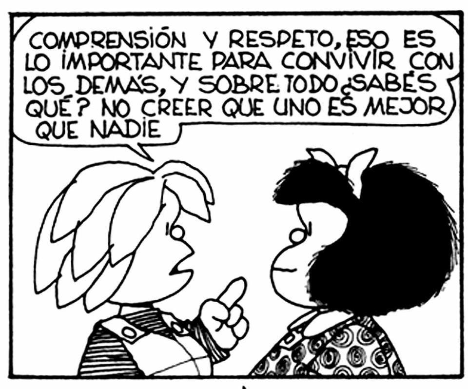 Mafalda comprensión y respeto